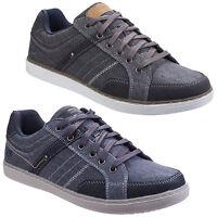 Skechers Lanson Mesten Mens Memory Foam Canvas Low Profile Trainers Shoes UK6-12