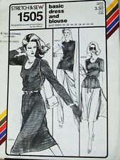 Stretch & Sew Master Pattern 1505 Bust 30-46 Basic Pullover Dress & Top /Blouse