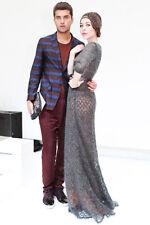 Ulyana Sergeenko Mohair Lace Orenburg Knit Brown Dress Size 36