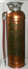 Vintage Copper And Brass W.D. Allen First Aid Full Size Empty Fire Extinguisher