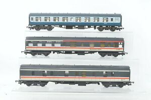 Lima/Mainline OO Gauge - Intercity/BR Rake of 3 Coaches - Unboxed