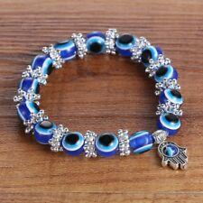 New Fashion Turkish Evil Eye Make Wish Lampwork Glass Handmade Bracelet Bangle