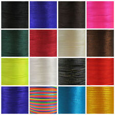 RATTAIL SATIN CORD 1mm, 2mm, 2.5mm & 3.5mm 25 COLOURS KUMIHIMO MACRAME STRINGING