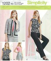 Simplicity 1202 Misses'/Miss Petite Top, Skirt, Pants & Jacket  Sewing Pattern