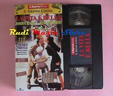 film VHS cartonata LA VITA E' BELLA Roberto Benigni ESPRESSO 1998 (F39 *) no dvd