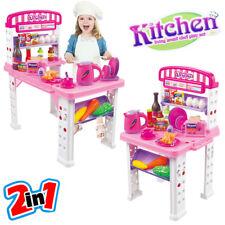 Playset Cucina Giocattolo Bambini Banco Estensibile Numerosi Accessori Gioco