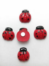 5 x Cute Ladybirds Charm (15x15mm) Fridge memo,decor strong magnets, Fun Gift