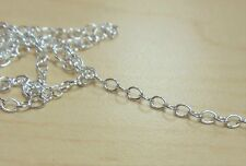 925 STERLING SILVER Cable chain by the foot 1.7x2.45mm Oval Links bulk 5 Feet