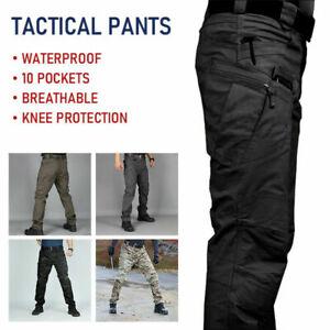 Mens Hiking Waterproof Tactical Trousers Outdoor Fishing Walking Combat Pants !