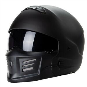 DOT Full face motorcycle helmet with mask vintage custom bike helmet