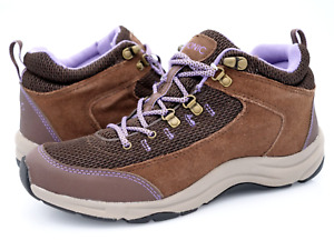 Vionic Womens Brown Purple Cypress Lace Up Athletic Trail Hiking Sneaker Shoes