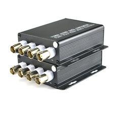 4CH Video Fiber Optic Media Converter for CCTV - S/M 20Km FC 1Pair