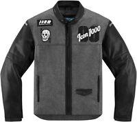 Icon 1000 Vigilante Stickup Textile / Leather Motorcycle Jacket   All Sizes