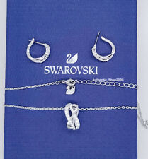 Swarovski Crystal Twist Pendant & Earrings Set White Rhodium Plated 5579790