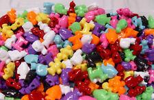 Cat Dog Fish Teddy Bear Pet shaped pony beads 25pc multi colors