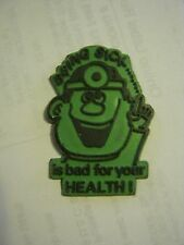 """Green """"Being Sick Is Bad For Your Health"""" Refrigerator Magnet (002-9)"""