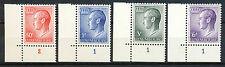 Luxemburg 710 - 713 postfrisse hoekstukken met plaatnummer (?)