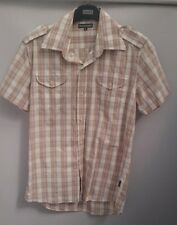 Men's Rockport Shirt - Short Sleeves Cotton 2 Pockets Holiday Summer  - Size S