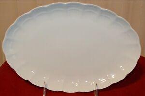 Kaiser Romantica All White Oval Serving Platter, 12 5/8 Inch