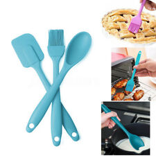 3pcs Silicone Spatula Spoon Brush Set Kitchen Cooking Utensil Baking Mixer Tool