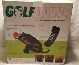 Vintage 1989 Golf Bag Telephone New in Box