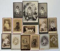 LOT 13 CDV ET 1 CARTE CABINET ENFANTS EN PIED ADOLPHE HEIL MICHEL ALIGROS G444