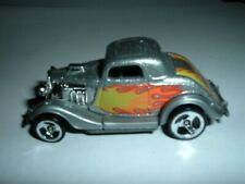Hot Wheels '32 FORD Coupe Silver Hot Rod with Flames Diecast 1979