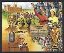 GUERNSEY 1998 150 YEARS OF FOOTBALL MINIATURE SHEET MOUNTED MINT.