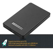 2.5 Inch Black Sata USB2.0 Hard Drive HDD Enclosure External Laptop Disk Case WT