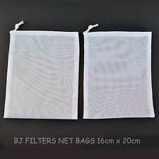 TWO FOOD STRAINING-DEFROSTING-FINE MESH NET BAGS 3.99= SOLD OVER 153 PAIRS !