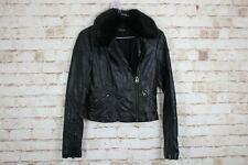 Topshop Black Faux Leather Jacket size Uk 8