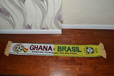 Il Brasile V GHANA calcio Sciarpa Soccer Calcio Bufanda Sciarpa 2011 Craven Cottage