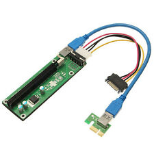 20x(PCI-Express PCI-E 1x-16x Extender Riser-Karte USB 3.0 + SATA 15P Kabel V2L6