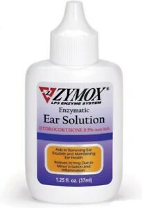 Zy-mox Enzymatic Ear Solution with 0.5% Hydrocortisone,for Dog&Cat,1.25oz,In Box