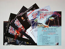 More details for jeff wayne's war of the worlds set of 6 uk a5 tour flyers...great for framing!!