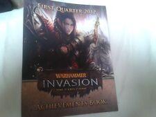 Warhammer Invasion LCG Achievements Book First Quarter 2012