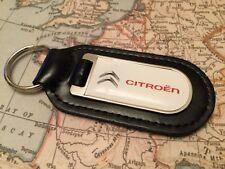 Citroen bedruckt Qualität schwarz, echtes Leder Schlüsselanhänger C 1 2 3 4 DS