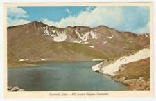B0219 1950's Post Card Postcard Summit Lake Mt Evans CO