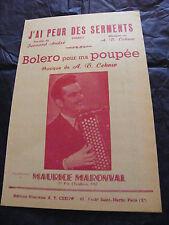 Partition J'ai peur des serments AT Cekow Bolero pour ma Poupée Maurice Maronval