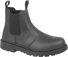 Grafters GRINDER Unisex Mens Womens Ladies Chelsea Dealer Safety Boots Black