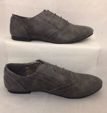 grey brogues Lace Up Size 4 Ladies Flats Casual