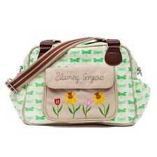 Pink Lining BLOOMING GORGEOUS GREEN DRAGONFLIES Baby Changing Diaper Nappy Bag