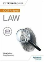 My Revision Notes: OCR A Level Law by Craig Beauman 9781510426320 | Brand New