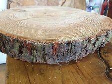 """12"""" registro RUSTICO fetta torta nuziale, in LEGNO Stand, Stepping Stones, Centro Pezzo"""