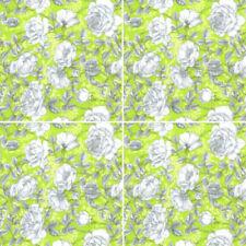 Telas y tejidos florales color principal verde para costura y mercería