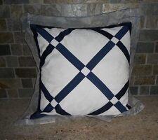 Boyds Bear Home Decorative Throw Pillow Chintz Lattice Navy