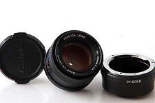 Obiettivo YASHICA LENS ML 50mm 1:1,4 C/Y per Canon EOS-M
