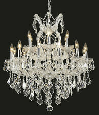World Capital Maria Theresa 19 Light Dining Crystal Chandelier in Chrome
