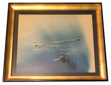 ORIGINAL! BLUE 1952 ENRICO DONATI OIL PAINTING - ABSTRACT EXPRESSIONIST PERIOD