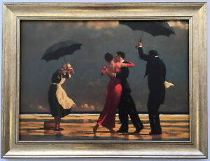 The Singing Butler by Jack Vettriano Framed Canvas Effect Print 55cm x 42cm Art